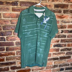 ♦️American Eagle Green Stamped Polo Size Large